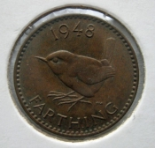 Anglie - 1 farthing 1948