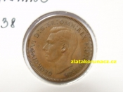 Anglie - 1 farthing 1938