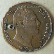 Anglie - 1 farthing 1837