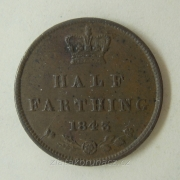 Anglie - 1/2 farthing 1843