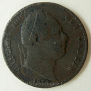 Anglie - 1 farthing 1834