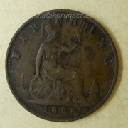 Anglie - 1 farthing 1888