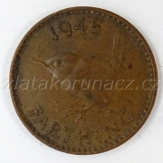 Anglie - 1 farthing  1945