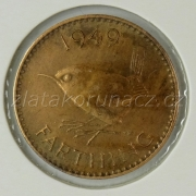 Anglie - 1 farthing 1949