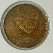 Anglie - 1 farthing 1950
