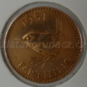 Anglie - 1 farthing 1951