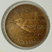 Anglie - 1 farthing 1952