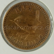 Anglie - 1 farthing 1954