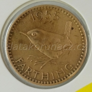 Anglie - 1 farthing 1955