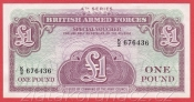 Anglie - 1 Pound 1962 British Armed Forces - 4. série
