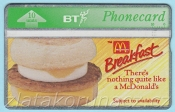 Anglie - BT 10 units - McDonald´s