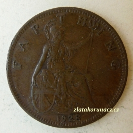 Anglie - 1 farthing 1928