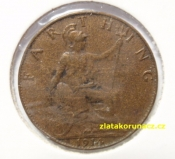 Anglie - 1 farthing 1911