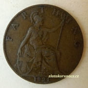Anglie - 1 Farthing 1921