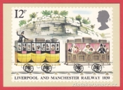 Liverpool and Manchaster railway 1830, lidé,12p