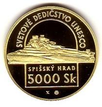 1998 - 5 000 Sk - Spišský hrad